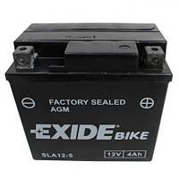 EXIDE SLA12-5 Мото аккумулятор 4 А/ч, 70 А, (-/+), 113х70х105 мм
