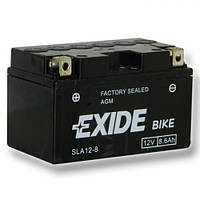 EXIDE SLA12-8 / AGM12-8 Мото аккумулятор 8,6 А/ч, 145 А, 150х87х93 мм
