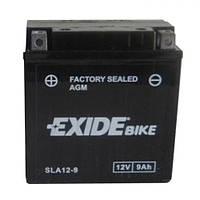 EXIDE SLA12-9 Мото аккумулятор 9 А/ч, 120 А, (+/-), 135х75х136 мм