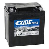 EXIDE SLA12-31/AGM12-31 Мото аккумулятор 30 А/ч, 380 А, (-/+), 166х126х175 мм