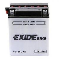 EXIDE YB12AL-A2 Мото аккумулятор 12 А/ч, 150 А, (-/+), 134х80х160 мм