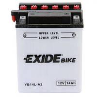 EXIDE YB14L-A2 Мото аккумулятор 14 А/ч, 145 А, (-/+), 134x89x166 мм