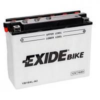 EXIDE YB16AL-A2 Мото аккумулятор 16 А/ч, 220 А, (-/+), 205х70х162 мм