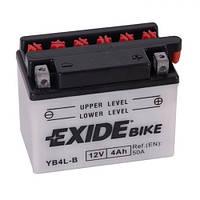 EXIDE YB4L-B Мото аккумулятор 4 А/ч, 60 А, (-/+), 120х70х92 мм