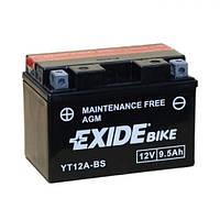 EXIDE YT12A-BS Мото аккумулятор 9,5 А/ч, 120 А, (+/-), 150х87х105 мм