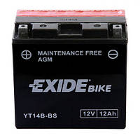 EXIDE YT14B-BS Мото аккумулятор 12 Aч, 190 A, (+/-), 150x70x145 мм