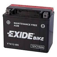 EXIDE YTX12-BS Мото аккумулятор 10 А/ч, 150 А (+/-), 150х87х130 мм