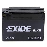 EXIDE YT4B-BS Мото аккумулятор 2,3 А/ч, 30 А, (-/+), 113х38х85 мм