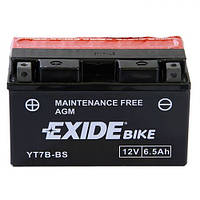 EXIDE YT7B-BS Мото аккумулятор 6,5 А/ч, 85 А, (+/-), 150х65х93 мм