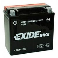 EXIDE YTX14-BS Мото аккумулятор 12 А/ч, 200 А, (+/-), 150х87х147 мм