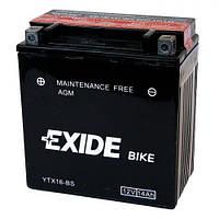 EXIDE YTX16-BS Мото аккумулятор 14 А/ч, 215 А, (+/-), 150х87х161 мм