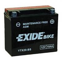 EXIDE YTX20-BS Мото аккумулятор 18 А/ч, 270 А,(+/-), 175х87х155 мм