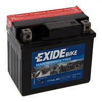 EXIDE YTX4L-BS Мото аккумулятор 3 А/ч, 50 А, (-/+), 113х70х85 мм