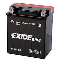 EXIDE YTX7L-BS Мото аккумулятор 6 А/ч, 80 А, (-/+), 113х70х130 мм