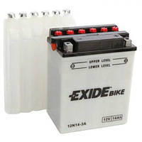 EXIDE 12N14-3A Мото аккумулятор 14 А/ч, 130 А, (-/+), 134х89х166 мм