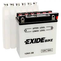 EXIDE 12N5-3B Мото аккумулятор 5 Aч, 40 A, (-/+), 120x60x130 мм