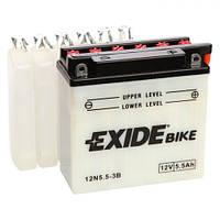 EXIDE 12N5,5-3B Мото аккумулятор 5,5 Aч, 45 A, (-/+), 136x61x131 мм