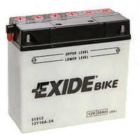 EXIDE 12Y16A-3A Мото аккумулятор 19 А/ч, 190 А, 181х77х167 мм