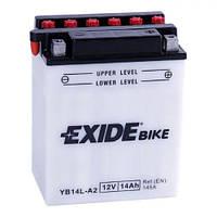 EXIDE YB14-A2 Мото аккумулятор 14 А/ч, 145 А, (+/-), 134x89x165 мм