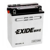 EXIDE YB12AL-A Мото аккумулятор 12 А/ч, 165 А, (-/+), 134х80х160 мм