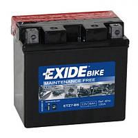 EXIDE YTZ7-BS / ETZ7-BS Мото аккумулятор 6 A/ч, 100 A, (-/+), 113x70x105 мм