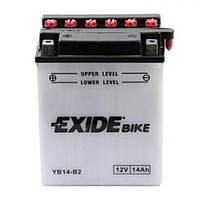 EXIDE YB14-B2 Мото аккумулятор 14 А/ч, 145 А, 134x89x166 мм