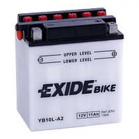 EXIDE YB10L-A2 Мото аккумулятор 11 А/ч, 130 А, 134х90х145 мм