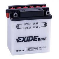EXIDE  YB3L-A Мото аккумулятор 3 А/ч, 25 А, (-/+), 98х56х110 мм