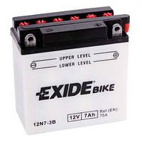 EXIDE 12N7-3B Мото аккумулятор 7 А/ч, 75 А, (-/+), 135х75х133 мм