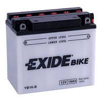 EXIDE YB16-B Мото аккумулятор 19 А/ч, 190 А, (+/-), 175х100х155 мм