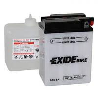 EXIDE B38-6A  Мото аккумулятор 13 А/ч, (-/+), 119х83х162 мм