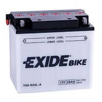 EXIDE Y60-N24L-A Мото аккумулятор 28 А/ч, 280 А, (-/+), 184х124х169 мм