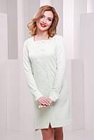 Светло-салатовое  женское  платье Rebecca FashionUp 42-48  размеры
