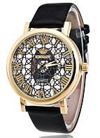 Женские часы Кружево Скелетон  черные