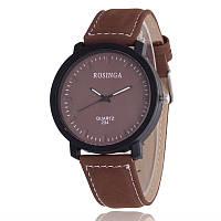 Мужские часы Rosinga коричневые (эко замш)