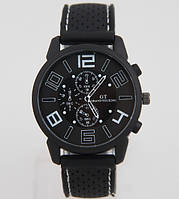 Мужские часы GT Grand Touring силиконовый ремешок Черные