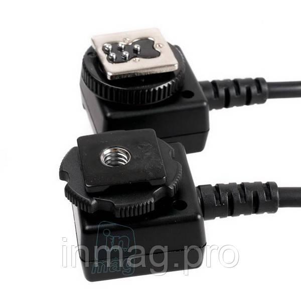 TTL кабель Yongnuo FC-682/S для Nikon с 2-мя горячими башмаками, 1м.