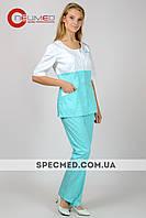 Женский  медицинский костюм ( фламинго)
