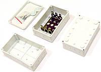 Бокс телефонный на 30 пар, пластиковый, серый, на винтах, IP54 (аналог КРТМ-30х2)