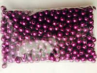 Бусы, цвет фиолетовый №10мм (250грм в упаковке)