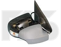 Зеркало левое механическое без обогрева грунт с указателем поворота с подсветкой Logan 2013-
