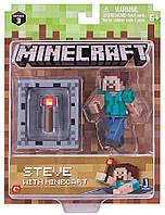 Подвижная фигурка Minecraft Steve With Minecart