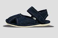 Туфли домашние детские Джинс бязь липучка Сандалеты Литма