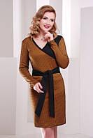Горчичное  женское  платье Nicole FashionUp 42-48  размеры