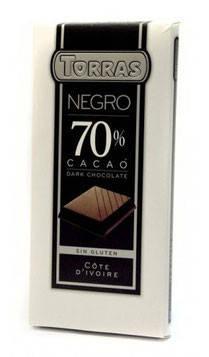 Шоколад Torras negro (черный) 70% какао Испания 200г, фото 2