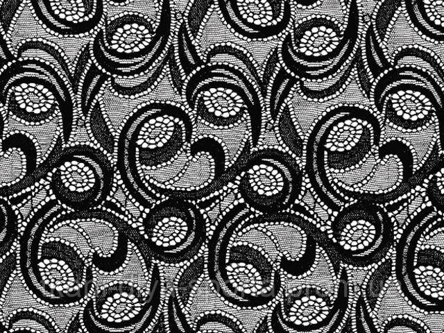 Стрейч-гипюр CHRISANNE (Англия) черный (galactic black)
