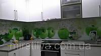 Стеклянный фартук Яблоки - скинали для кухни