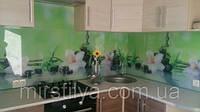 Стеклянный фартук Орхидеи - скинали для кухни