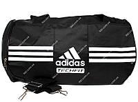 Спортивная сумка - бочка черного цвета под Adidas (908)