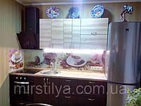 Стеклянный фартук Кофе чашки - скинали для кухни